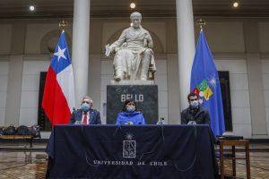 Convención Constitucional en la universidad de Chile.